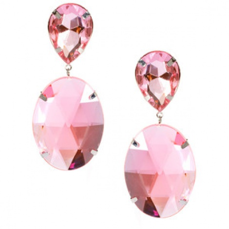 Vintage pink sapphire mega statement earrings