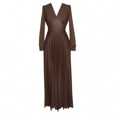 Vintage pleated long sleeve gown (SOLD)