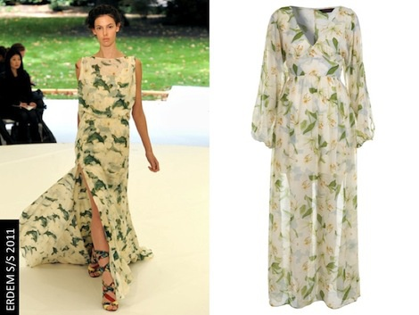 70s floaty split sleeve maxi as seen at Erdem