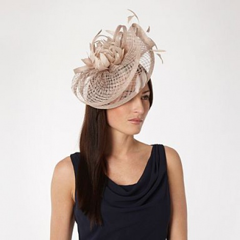 Antique rose fascinator