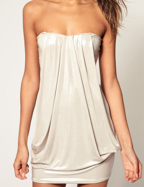 Silvery drape pocket tunic