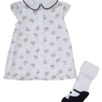 Vintage 60s MOD baby dress + Mary Jane shoe tights