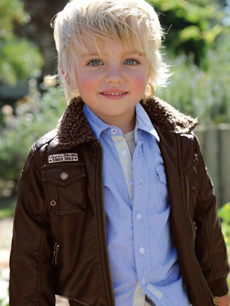 Mini version of Burberry Men aviator jacket