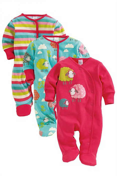 Sleepsuits with built-in mitts