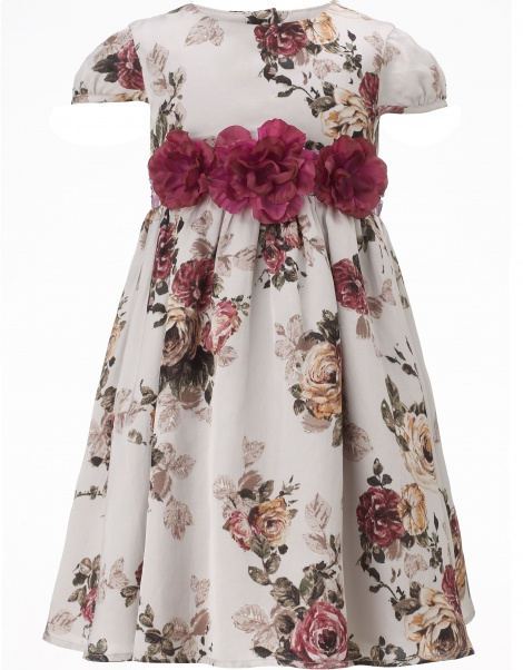 Silky floral baby dress