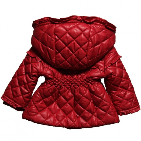 Baby 'Chanel' ruffle quilted dress-coat