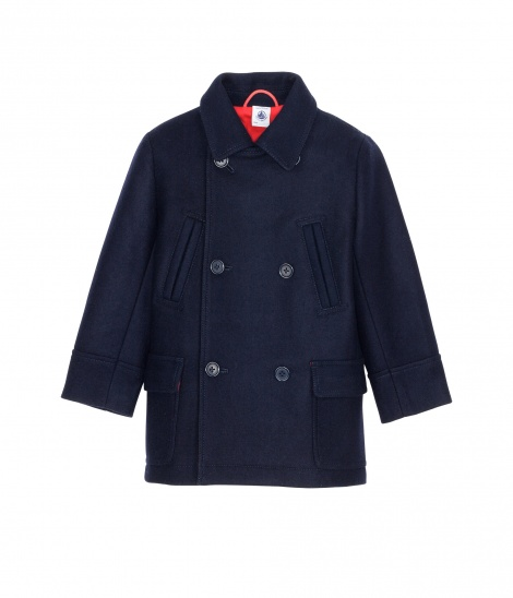 Smart cotton pea coat