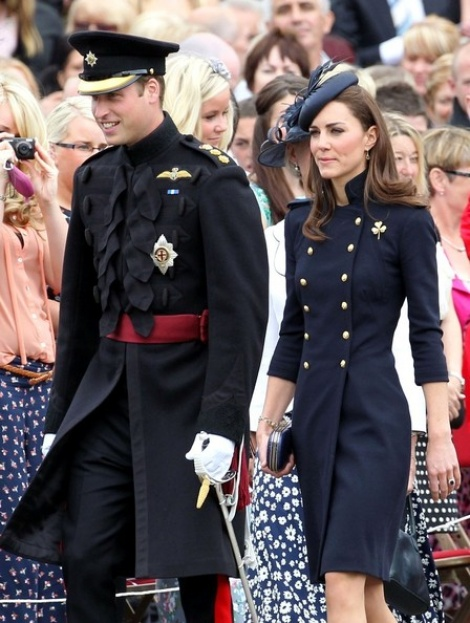 Military navy coat seen on Princess Kate
