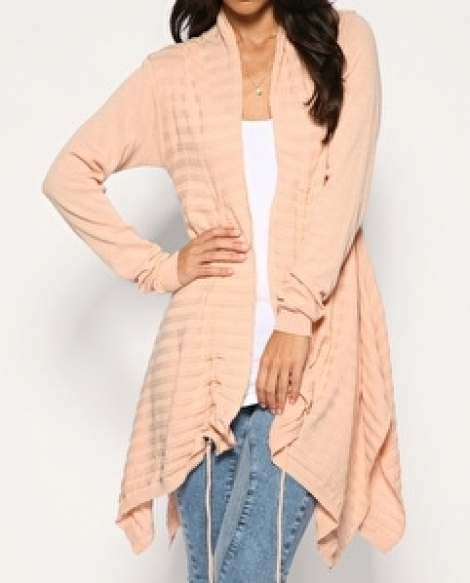 Peach waterfall cardigan