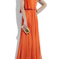 Vintage 70s pleated gown as worn by Carrie in Sex & The City