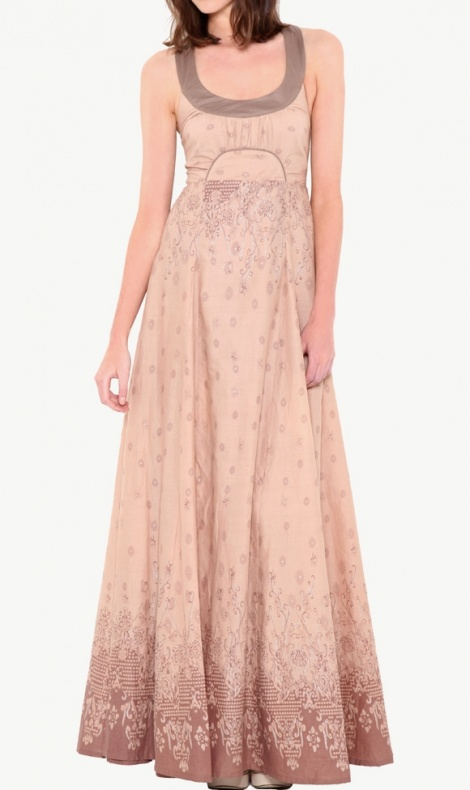 Sienna boho cotton gown