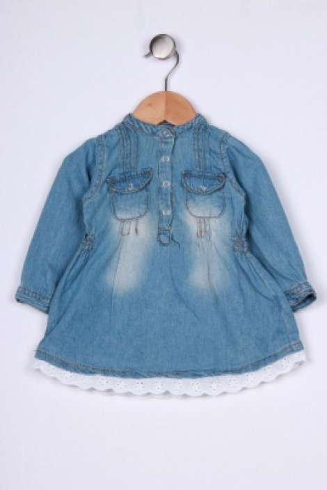 Rock chick denim shirtdress