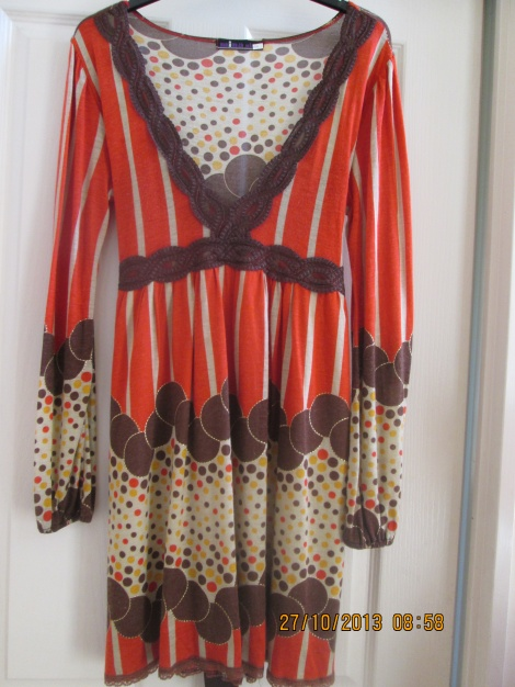 Psychedelic 60s cotton babydoll dress
