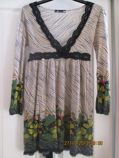 60s floral cotton babydoll dress