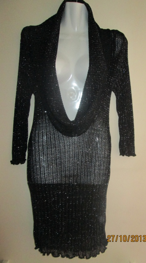 Sparkly sheer knit LBD