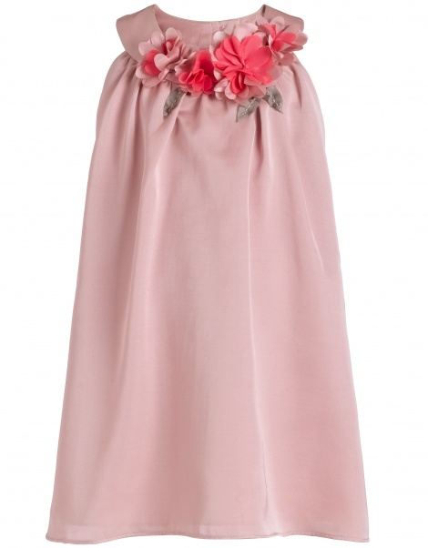 Flower necklace swing dress with headband