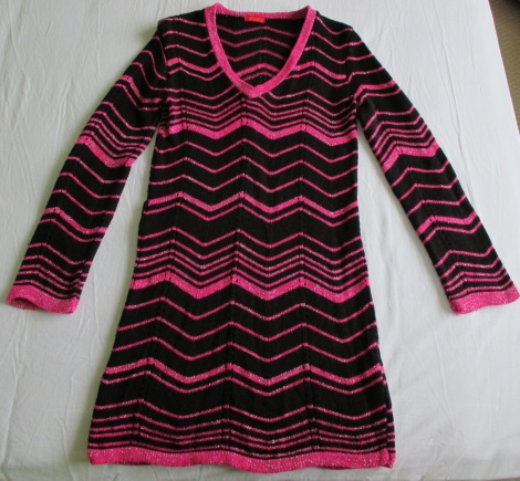 60s zigzag knit dress ala Missoni