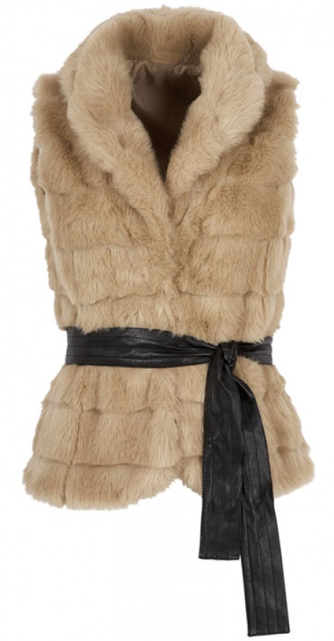 Tiered faux fur gilet