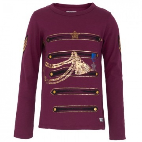 Maroon military long sleeve tee