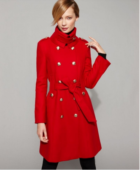 Cotton military coat ala Burberry