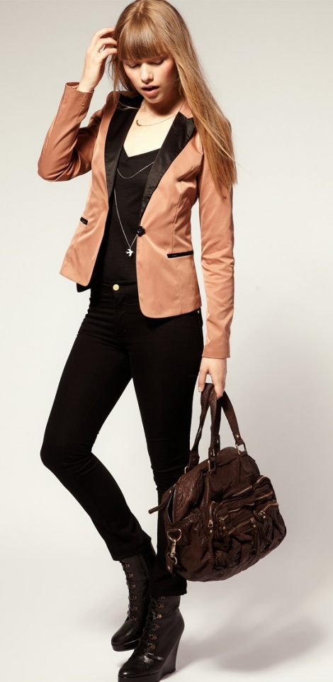 Rose gold two tone blazer