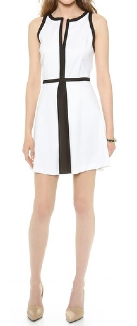 Sportluxe monochrome dress
