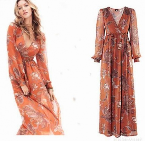 Giselle boho 70s maxi dress