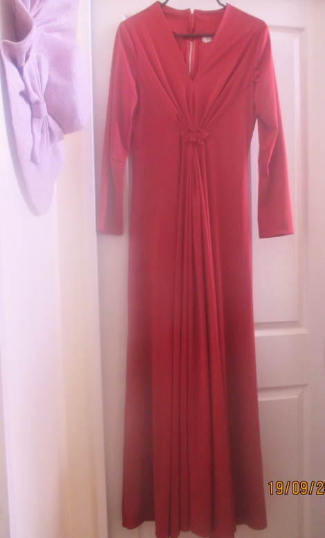Vintage rustic red maxi