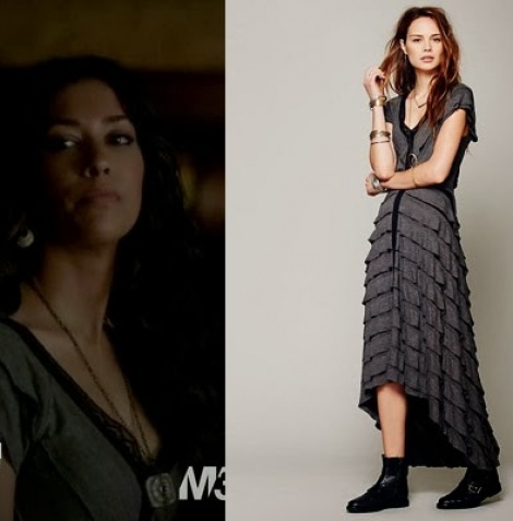 Waterfall ruffle dress as seen in Vampire Diaries