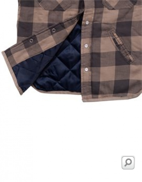 Muscle Man padded shirt-jacket