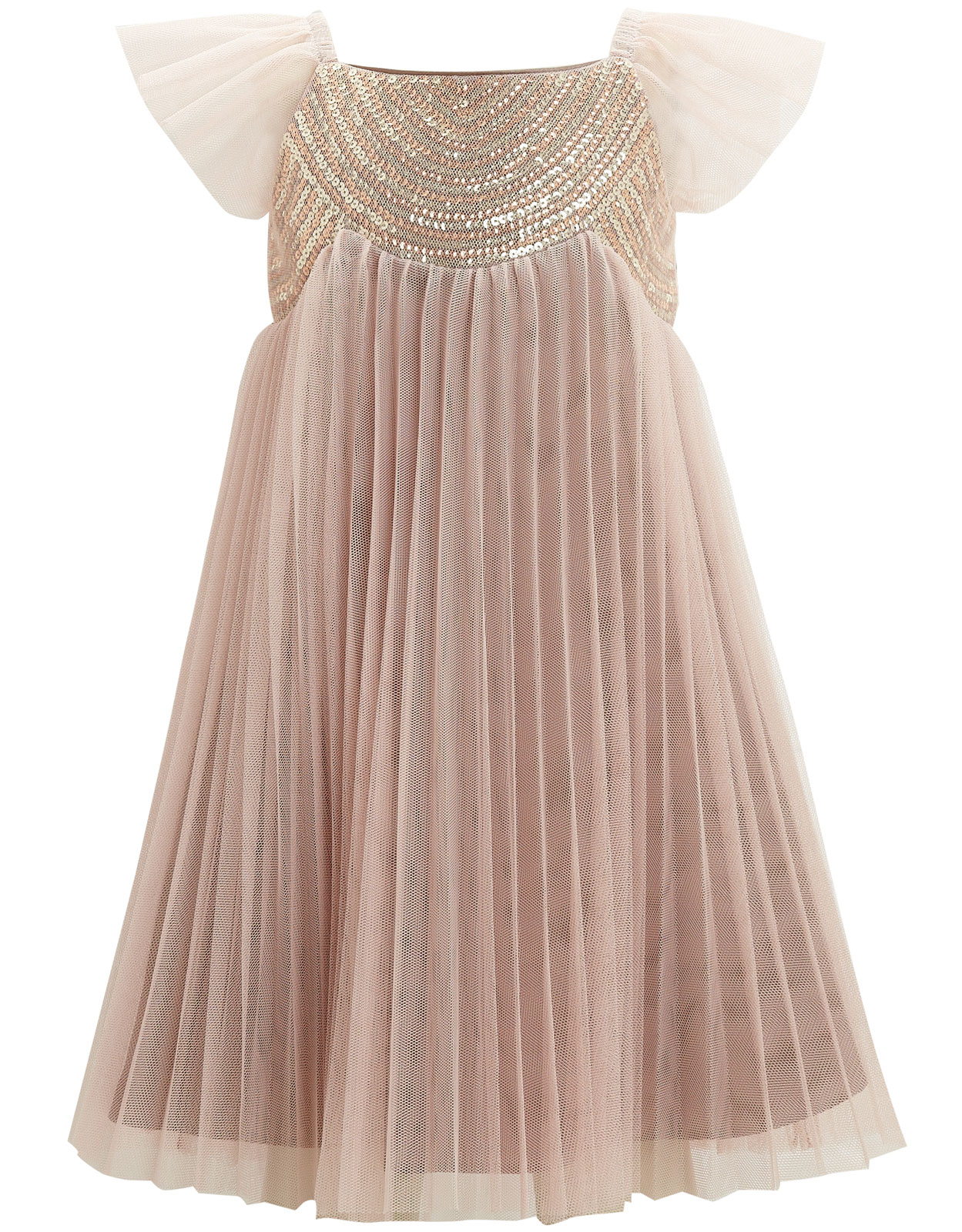 Sparkly pleated dress Kensington Couture