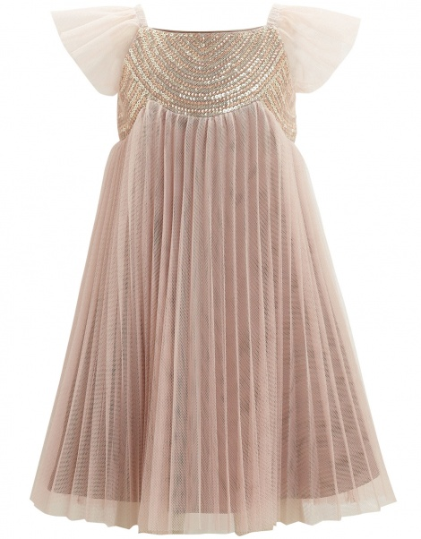 Sparkly pleated dress