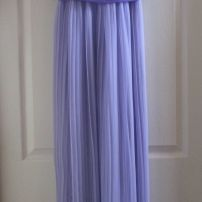 70s lavender pleated silk gown