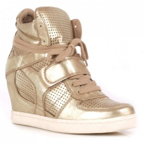 Couture concealed wedge sneakers
