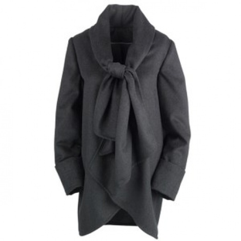 Vintage 50s Dior style scarf cape coat