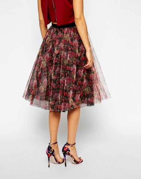 50s tulle full skirt