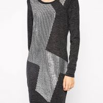 Sequinned sweater dress