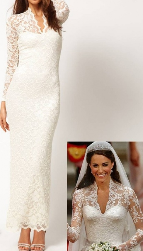 Princess Kate lace gown
