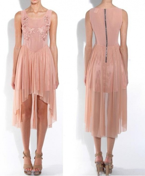 Embroidered tulle ballerina dress