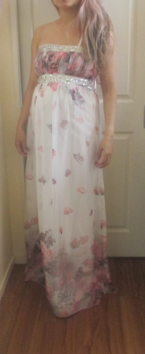Grecian maternity gown (sold)