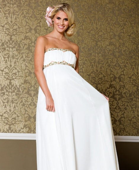 Grecian goddess maternity gown (sold)