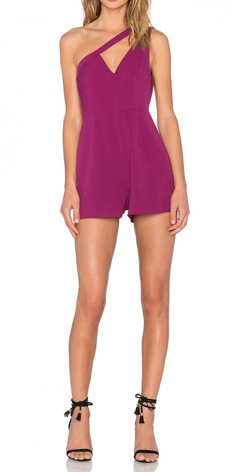 Sports luxe one shoulder playsuit