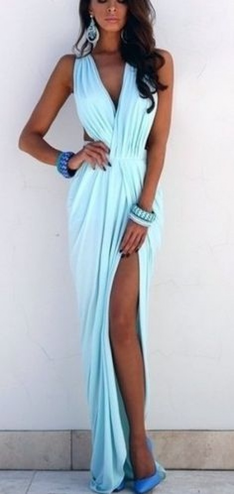 Grecian goddess cutout gown