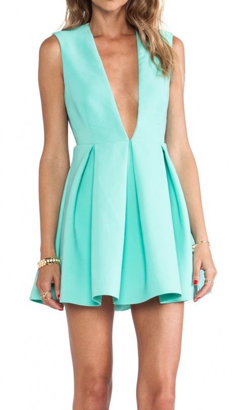 Aqua sports couture neoprene dress