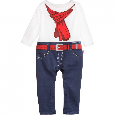 Scarfie denim look babygro