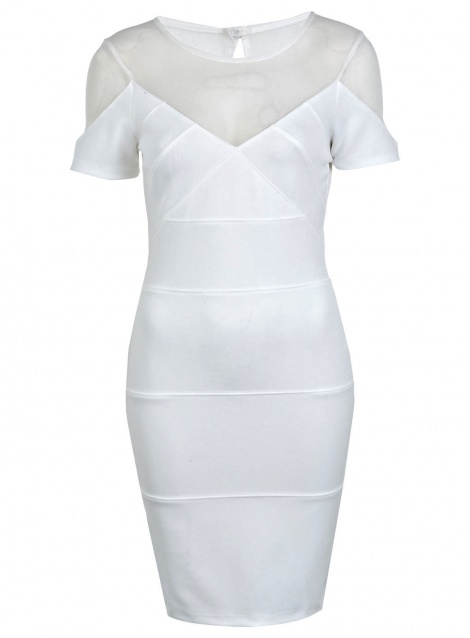 Sports luxe mesh bandage dress