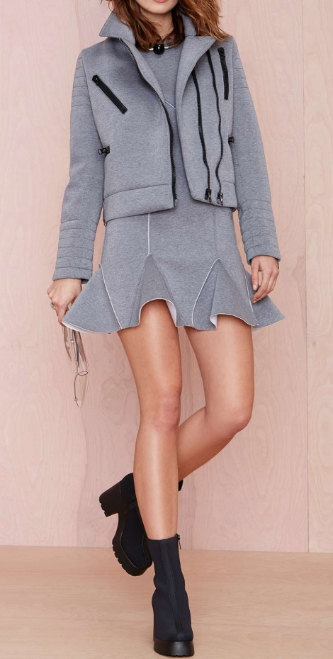 Sports couture sweatshirt dress