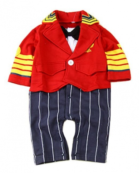 Royal military babysuit