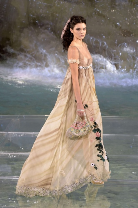 Floaty empire gown