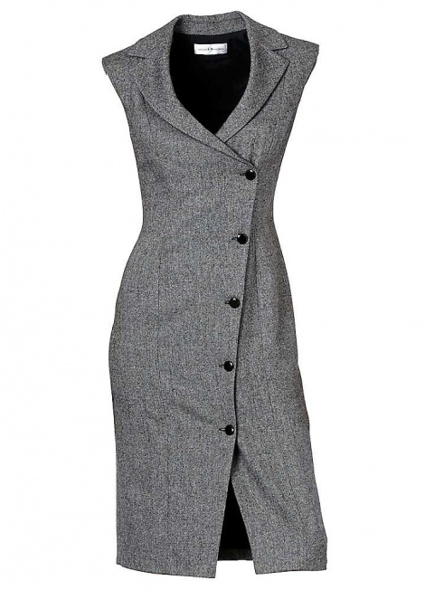 Chanel-esque tweed tux dress